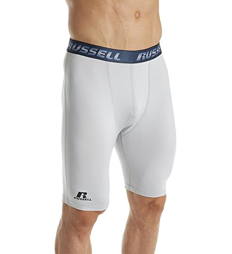 Russell Mens Performance Compression Short Silver S
