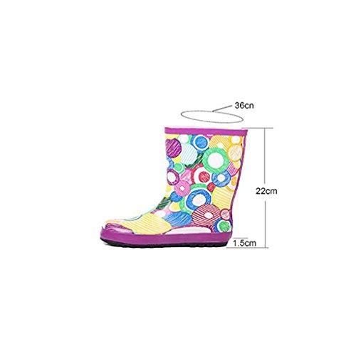 QYQyx Women's Rain Boots, Women's Flat Boots Rain Boots, Anti-Slip Boots, Cartoon Fashion Water Shoes A