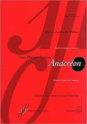 Anacréon : Ballet héroïque en un acte, Réduction clavier chant