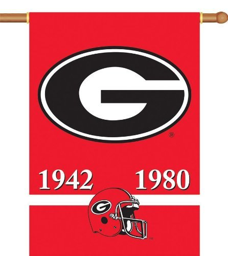 (NCAA Georgia Bulldogs Champ Years 2-Sided 28-by-40 inch House Banner with  Pole Sleeve)