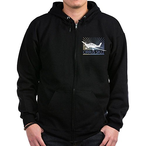 CafePress - Aircraft Cirrus SR22 Zip Hoodie (dark) - Zip Hoodie, Classic Hooded Sweatshirt with Metal - Metal Craft Classic