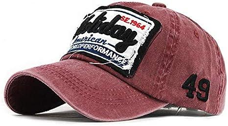 TXGLGWA Gorra de béisbol Unisex Letras Retro Sombreros ...
