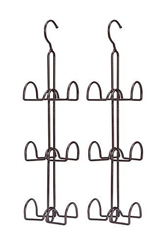 STORAGE MANIAC Hanging Closet Hook for Purses, Ties, Belts, Handbags, Accessories Organizer, 6 Hooks, 2-Pack