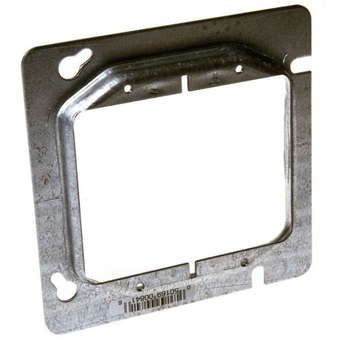 Hubbell-Raco 841 Raised 1/2-Inch, 4-11/16-Inch Square Mud-Ring for 2 -
