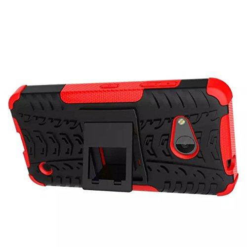 YHUISEN Hyun patrón de doble capa de armadura caso híbrido desmontable Kickstand 2 en 1 resistente a los golpes duro resistente cubierta de la caja para Microsoft Lumia 550 ( Color : Pink ) White