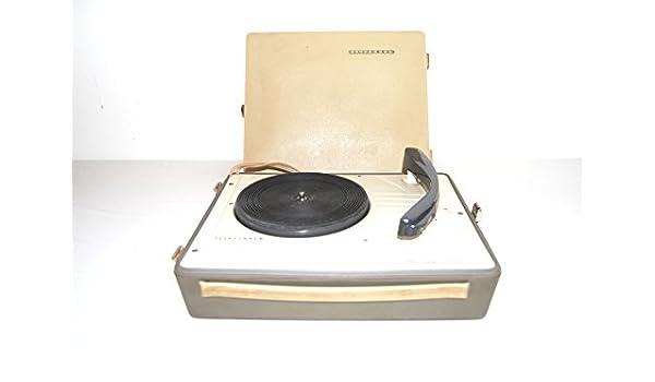 Portátil Tocadiscos Telefunken musikus 105 con Aguja de los años ...