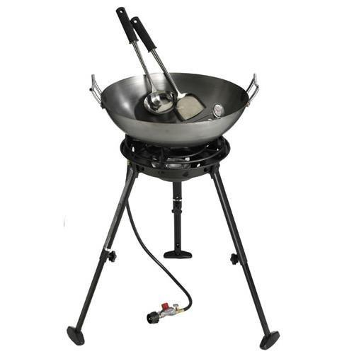 - Eastman Outdoors 37212 Outdoor Gourmet 22 Inch Carbon Steel Wok Kit