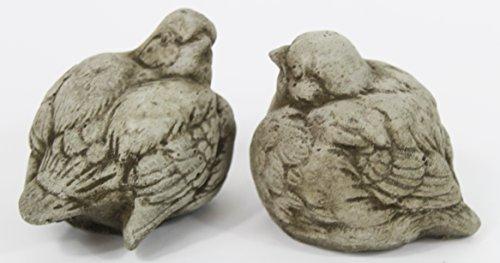 Sparrow Birds Pair of 2 Concrete (Concrete Animal Statues)