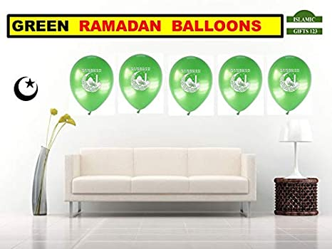 Amazon.com: Ramadan Balloons,Ramadan decorations- 100 pcs ...