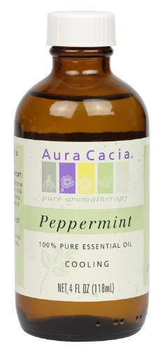 Aura Cacia Essential Oil, Cooling Peppermint, 4 fluid ounce ()