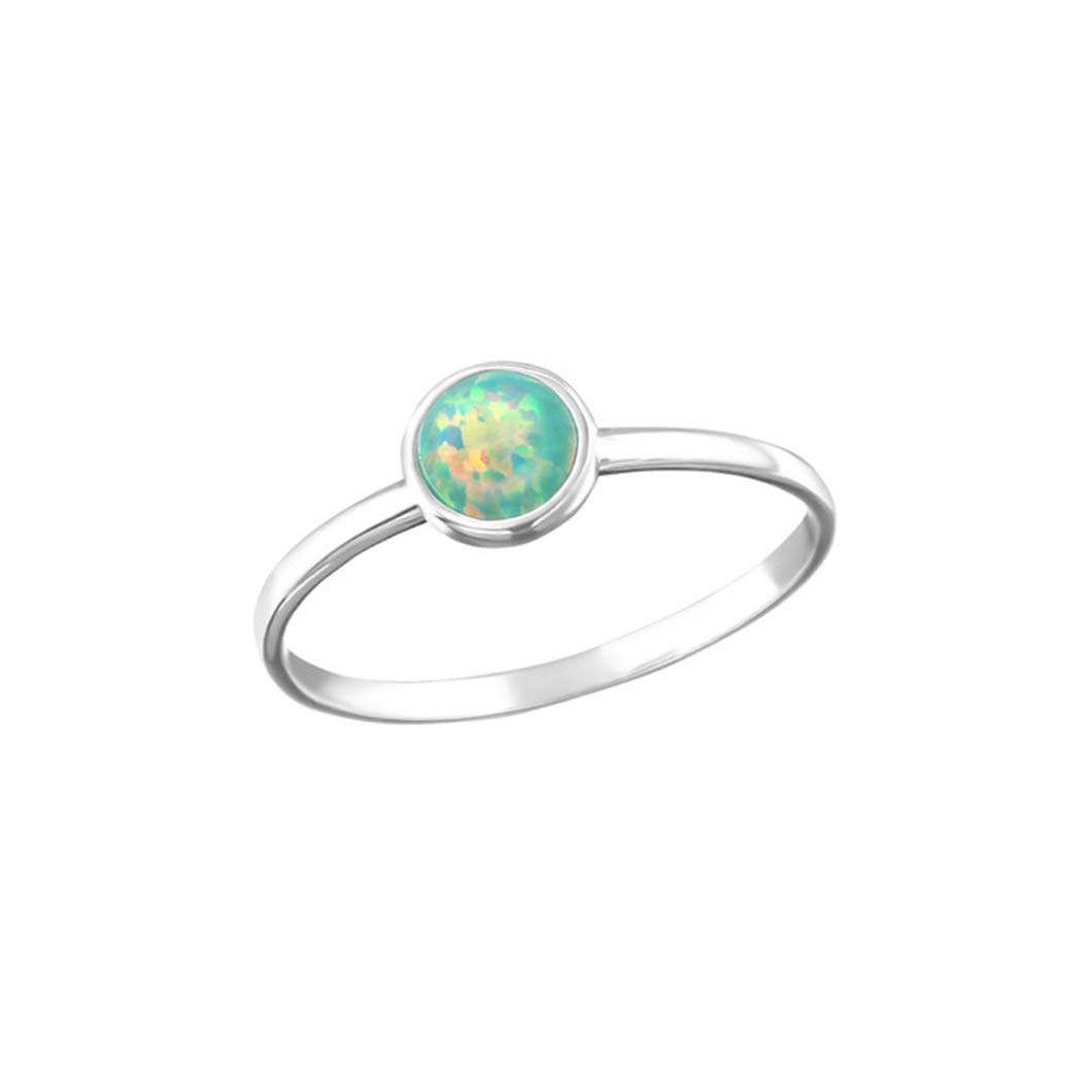 Liara Polished and Nickel Free Round Jeweled Rings 925 Sterling Silver