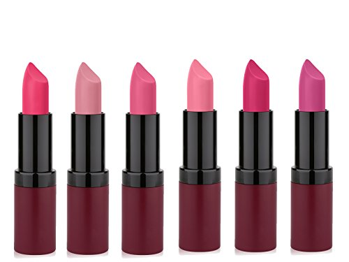 Golden Rose Long Lasting Pink Matte Lipstick Set of 6