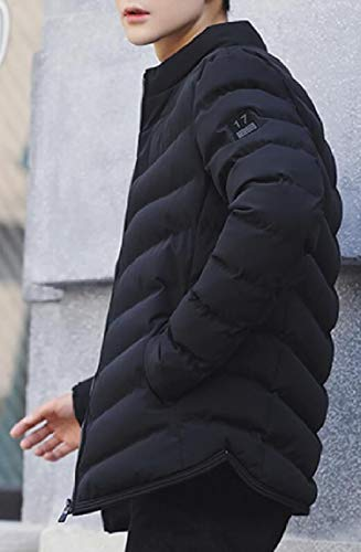Thicken Winter Hood Black with Puffer security Coat Mens Long Removable Sleeve T7xwRPq