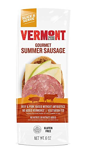 VERMONT SMOKE AND CURE Summer Sausage, 6 Ounce