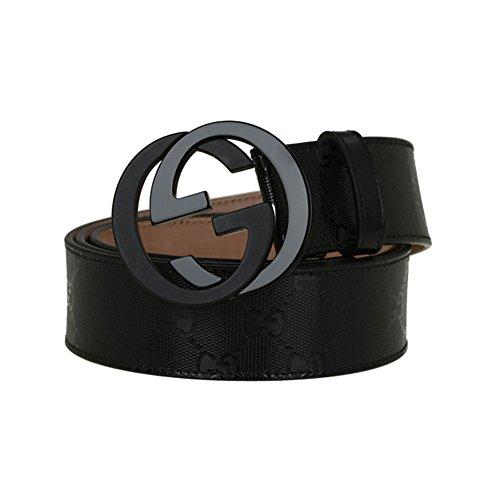 Man's Fashion GG Leather Alloy Buckle Belt (30