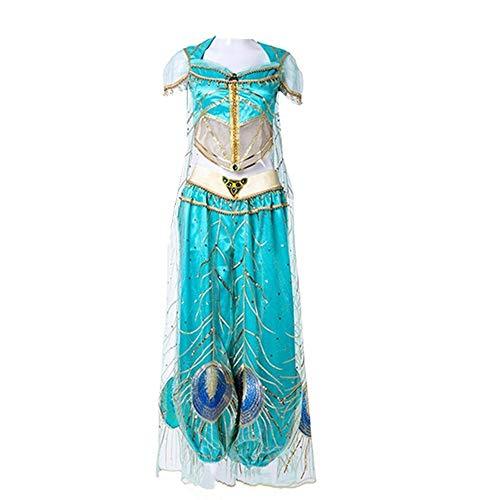 2019 New Movie Aladdin Jasmine Princess Embroidery Cosplay Costume for Adult Women Girls Halloween Costume (Women Size,XX-Large)]()