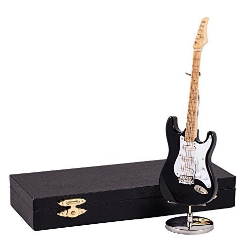 Broadway Gift Black Electric Guitar Music Instrument Miniature