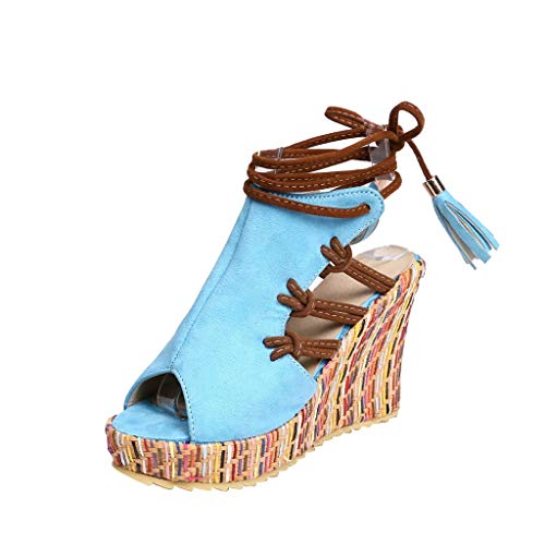 Loosebee Women's Hollow Sling Bohemian Laminated Heel Shoe