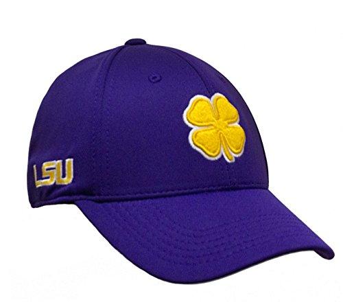Black Clover Gold/White/Purple LSU Premium Fitted Hat - L/XL