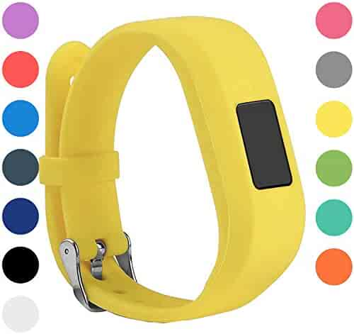 StrapsCo Silicone Rubber Replacement Watch Band Strap for Garmin Vivofit Jr
