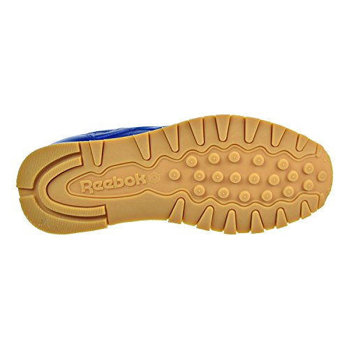 Men's Gold Cl Sneaker Met Royal Reebok Collegiate Lthr Gum Sd7WUn0Bq