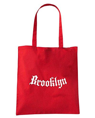 T-Shirtshock - Bolsa para la compra FUN0875 brooklyn addiction shirt Rojo