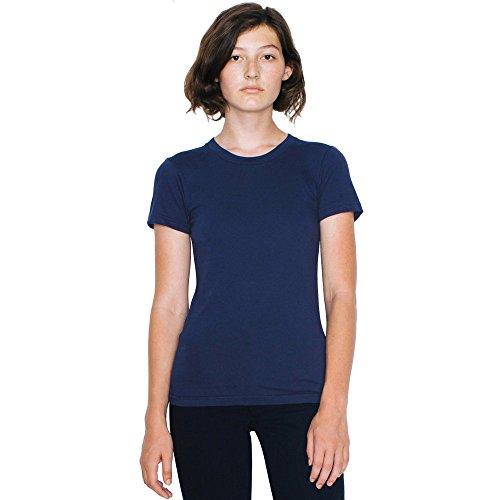 en fin American à en pour femmes manches jersey shirt Grigio coton T Apparel Maglietta courtes dames 4q8w4v