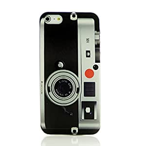 Lovely Back Cover Case for Iphone 5 5s with Free LCD Film Old Fashion Camera