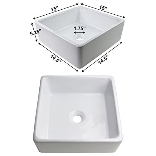 70%OFF GotHobby Brushed Nickel Popup Drain & Square Bathroom Faucet Vessel Sink Ceramic