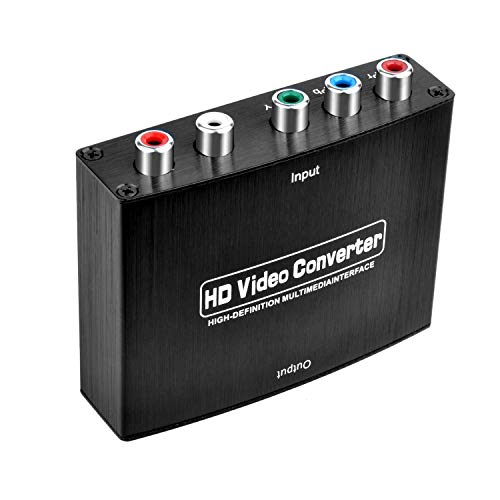 Archycals Component to HDMI Converter, 5RCA Component RGB YPbPr to HDMI V1.4 Converter Support 1080P for PS3, DVD, Xbox 360 to HDTV, Monitor and Projector (Ypbpr Hdmi Converter Rgb)