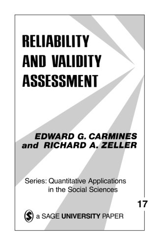 Reliability And Validity Assessment  Quantitative Applications In The Social Sciences