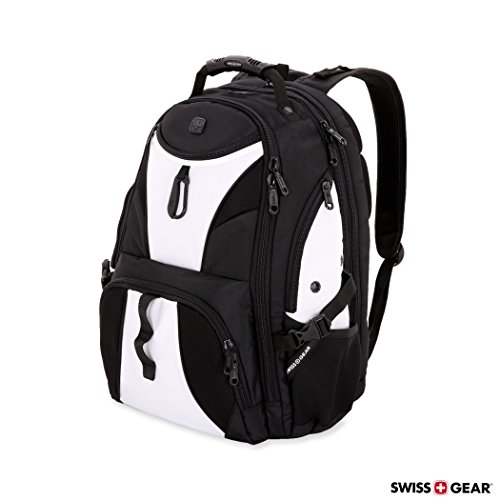 SwissGear Travel Gear 1900 Scansmart TSA Large Laptop Backpack for Travel, School & Business - Fits 17' Laptop - Black/White