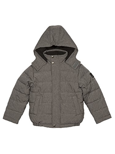 Big Signature Coal Boys' with Bubble Jacket Heather Resistant Cuffs Water Storm Nautica f6dwIx44