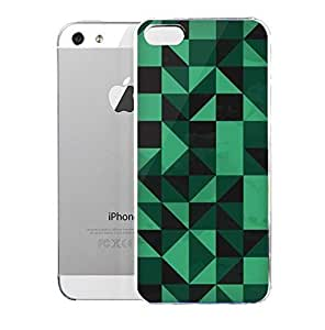 Light weight with strong PC plastic case for iPhone iphone 5c Patterns Geometric Black & Green