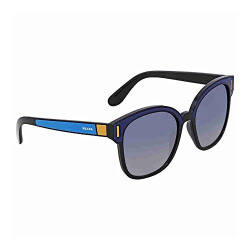 Prada PR05US SUI3A0 Black/Blue PR05US Square Sunglasses Lens Category 3 Lens ()