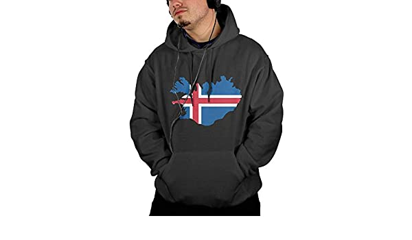 Comfortable 100/% Cotton Sweatshirt with Pocket for Men Ou30IL@WY Mens England Map Hooded Fleece
