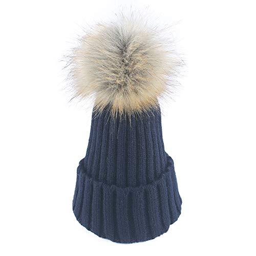 WGFGQX Sombrero De Punto Caliente De Las Señoras Al Aire Libre, Sombrero del Pompom,#1 #4