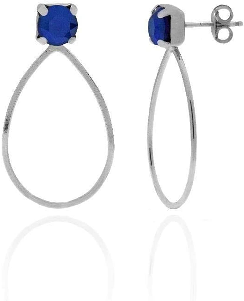 Pendientes Plata ARTY con SWAROVSKI ELEMENTS azul Royal Blue