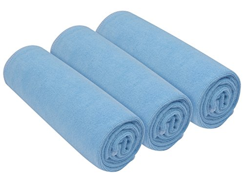 (SINLAND Microfiber Fast Drying Gym Towels Sports Fitness Workout Sweat Towels 3 Pack 16 inch X 32 inch)