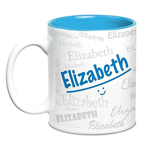 Hot Muggs Me Graffiti - Elizabeth Ceramic Mug 11 Oz, 1 Piece (Elizabeth Stuff)