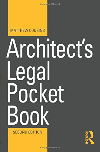 Architect Pocket - Architect's Legal Pocket Book (Routledge Pocket Books)