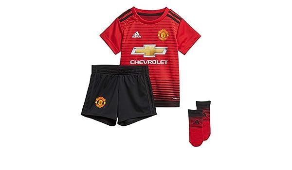 adidas Unisex Baby Manchester United FC Home Mini de hogar Equipo ...