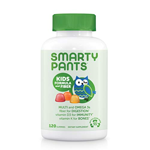 SmartyPants Kids Formula & Fiber Daily Gummy Multivitamin: Fiber for Digestive Health, Vitamin C, D3, & Zinc for…
