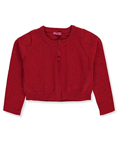 Princess Faith Little Girls' Toddler Shrug - Red, (Toddler Girls Red Sweater)
