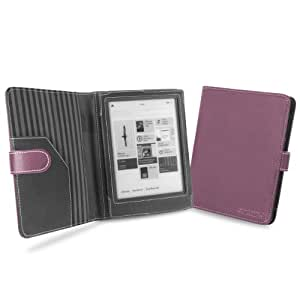 """Cover-Up Kobo Aura HD eReader (6.8"""") Cover Case With Auto Sleep / Wake Function (Book Style) - Purple"""