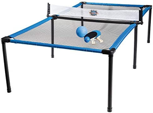 Franklin Sports SypderPong Tennis – Table Tennis, Volleyball and 4-Square Outdoor Game – Indoor or Outdoor Game For Kids – Includes Net, Table, Paddles and Ball