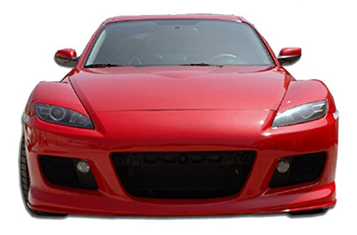Mazda RX8 2004-2008 MS Style 1 Piece Polyurethane Front Bumper manufactured by KBD Body Kits. Extremely Durable, Easy Installation, Guaranteed Fitment and Made in the (Bumper Installation Kit)