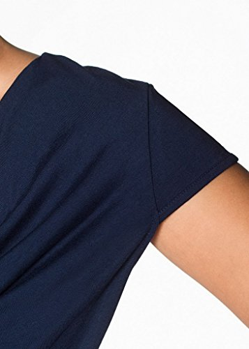 Uni Top shirt Manche Femme D Strass Couleur Bigood Vogue Courte T pzCRq