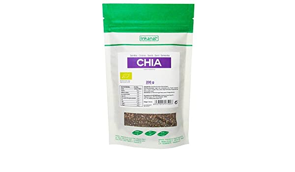 Semillas de Chia Bio 200 gr - 100% Pure sin aditifs: Amazon.es ...
