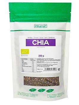 Semillas de Chia Bio 200 gr - 100% Pure sin aditifs: Amazon ...